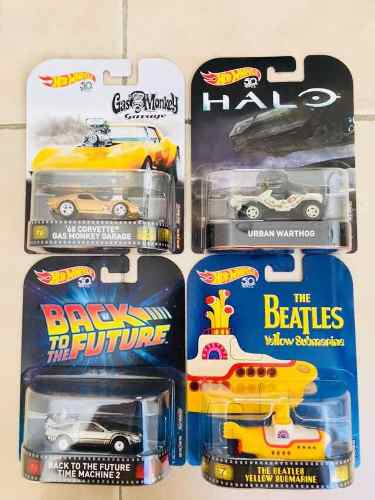 Hot Wheels Retro Set De 4 Gas Monkey Submarino Time Halo