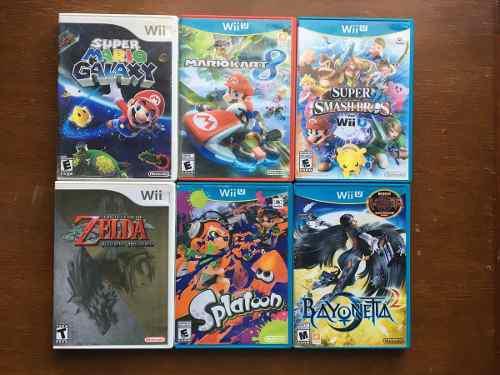 Juegos Para Nintendo Wii U Mario, Zelda, Splatoon, Bayonetta