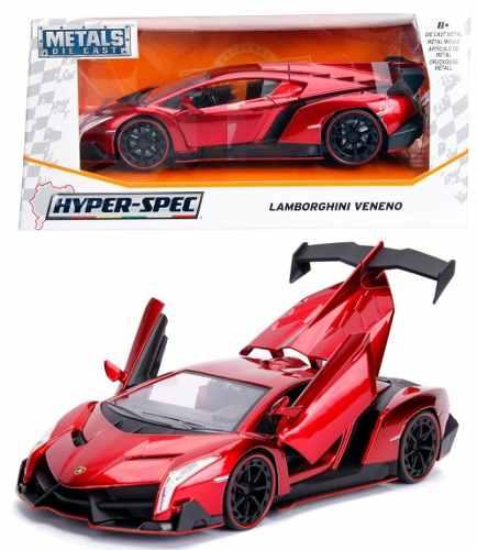 Lamborghini Veneno Hyper Spec 1:24 Jada Rojo Env Gratis