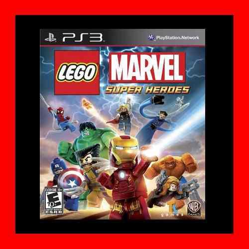 Lego Marvel Super Heroes Ps3 No Disco !!!