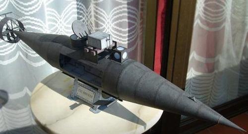 Pioneer Submarino (modelo De Papel Para Armar)