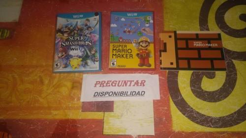Smash Bros Y Mario Maker Wiiu