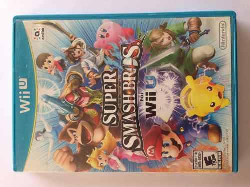 Super Smash Bros For Wii U (solo Caja Y Manual)