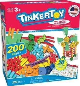 Tinkertoy 30 Modelo 200 Pieza Súper Juego De Construcción