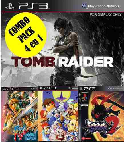 Tomb Raider Ps3 + 3 Juegos (11.5gb)