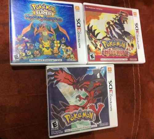 3 Juegos Pokemon Para Nintendo 3ds
