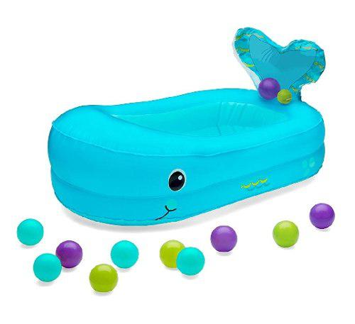 Bañera Inflable Ballena Azul Para Bebé Marca Infantino