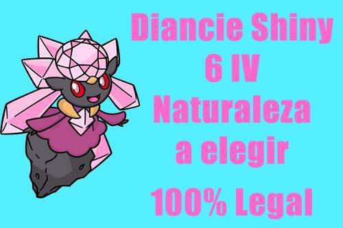 Diancie Shiny Pokemon De Evento 6iv Competitivo