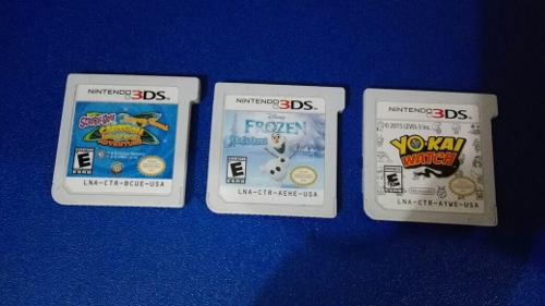 Lote 3 Juegos 3ds Yo Kai Watch Frozen Cartoon Universe Adven