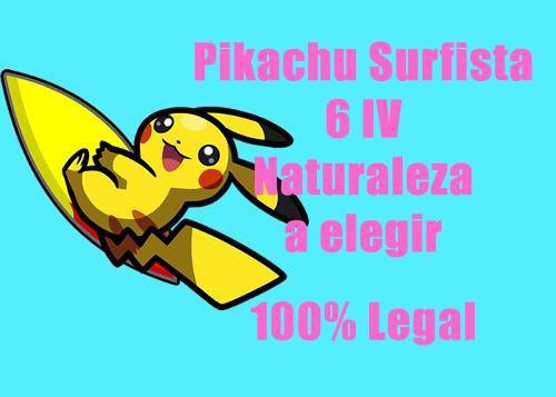 Pikachu Surfista Pokemon De Evento 6iv Competitivo