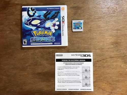 Pokemon Alpha Sapphire Completo Para Nintendo 3ds