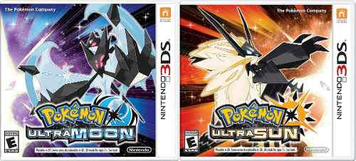 Pokemon Ultra Sun + Pokemon Ultra Moon Para 3ds A Mensualida