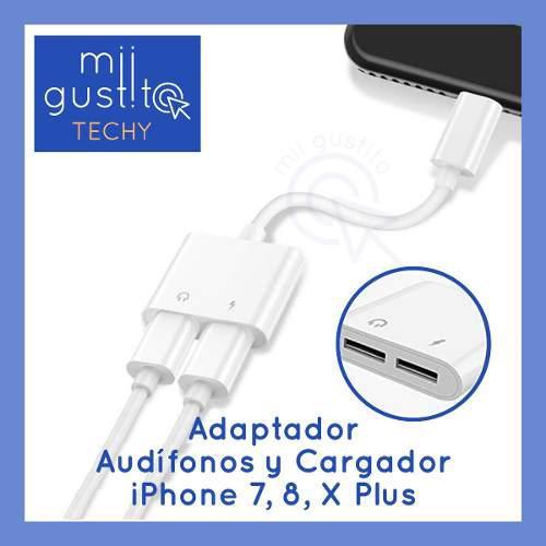 Adaptador Audífonos Y Cargador Iphone 7, 8, X Envío Gratis