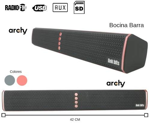 Bocina Portatil Recargable Barra De Sonido 42cm Bluetooth
