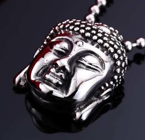 Buda Budismo Dije Collar Cadena Acero Inoxidable Unisex