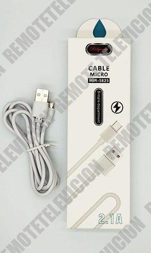Cable Cargador Datos Carga Rapida 2.1a Con Estuche Rider V8