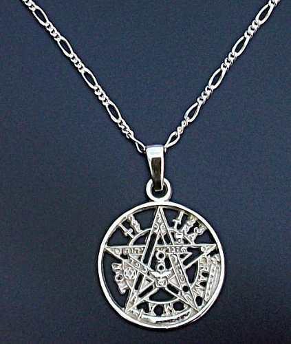 Cadena Y Dije De Tetragramaton Pentagrama En Plata.925