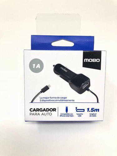 Cargador De Auto Iphone 5, 6, 7, 8 Y 10 Lighting Y Extra Usb