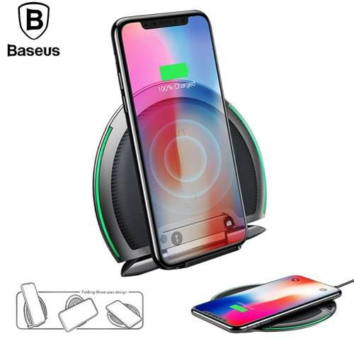 Cargador Inalambrico Qi Iphone Xs Max X 8 Multiposición Led