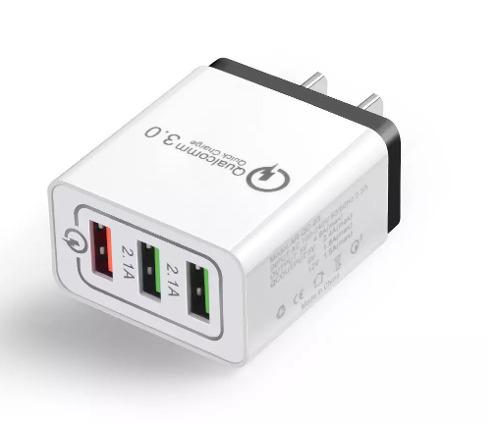 Cargador Qualcomm Quick Charge 3.0 Con 3 Puertos Sin Cable
