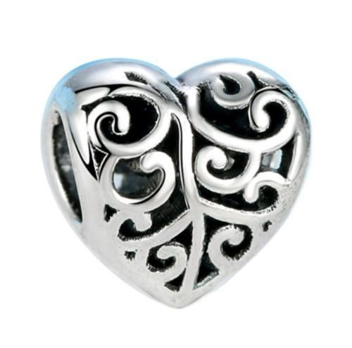 Charm Corazón Dije Compatible Pulsera Pandora Con Envío