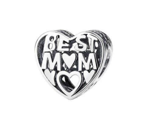 Charm De Plata Best Mom Compatible Con Pandora