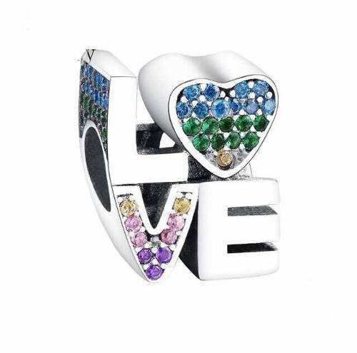 Charm De Plata Compatible Con Pandora Love