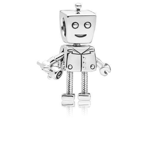 Charm Para Pulsera Pandora Rob Bot Plata Esterlina S925 Ale