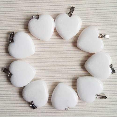 Corazón Mármol Blanco Natural Dije Unisex Tamaño 2cmx2cm
