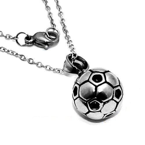 Dije Acero Inoxidable Con Cadena Balon De Futbol Pamboleros