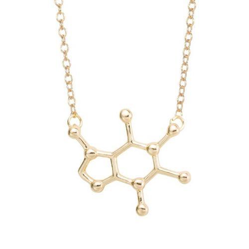 Dije De Química Molécula De Cafeína Envío Gratis