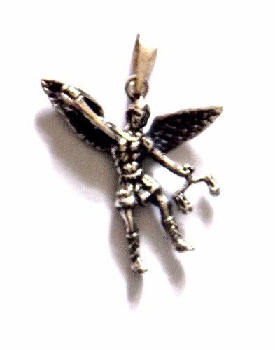Dije Grande San Miguel Arcangel Plata Fina 925