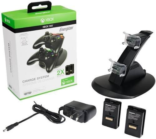 Energizer Cargador 2 Baterias Para Xbox 360