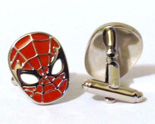 Marvel Mancuernillas De Acero Spider Man Originales