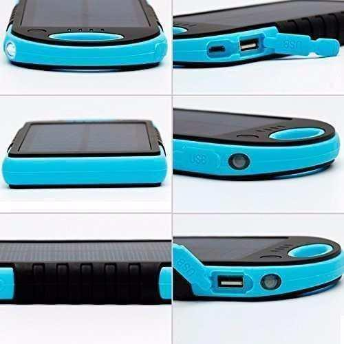 Power Bank Solar 10000 Mah Azul