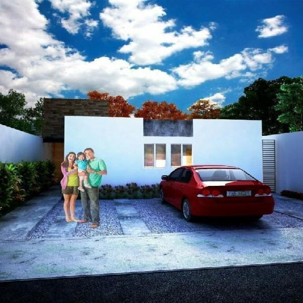 Cholul 7, casas en venta de una planta con 3 recámaras con