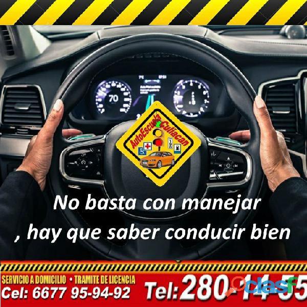 Cursos de manejo en una semana, aprende a conducir!