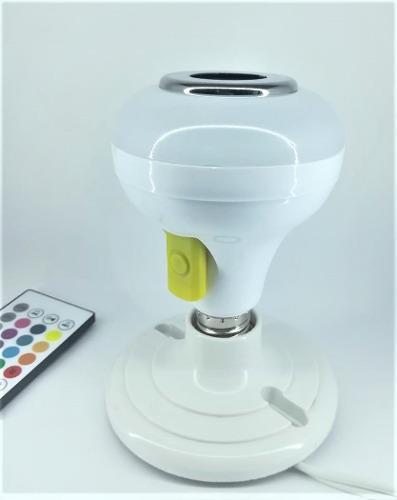 Foco Led De Colores Con Bocina Bluetooth Y Ranura Usb