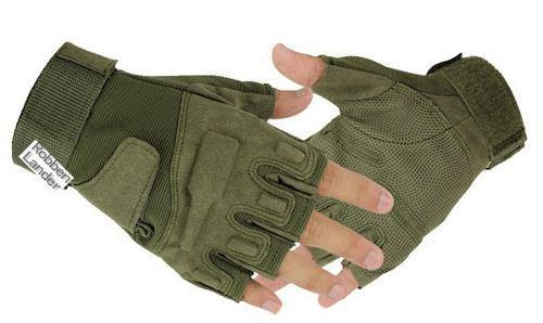 8c6932a0b4aa8 Guantes tactico militar corto verde f-503 almohadilla gotcha