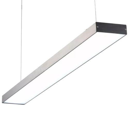 Lampara Colgante Led Lineal Aluminio 54w Minimalista 118 Cm