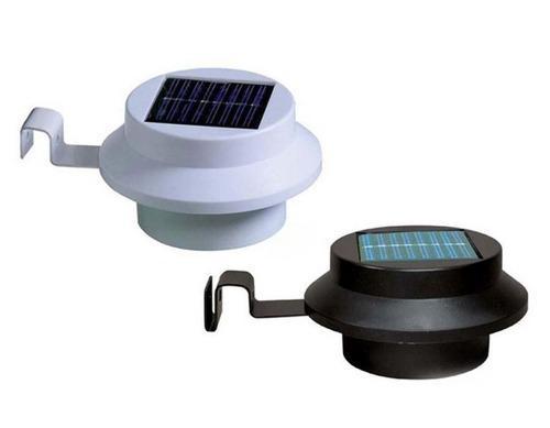 Lampara Led De Jardin Con Panel De Luz Solar Recargable