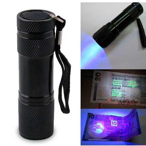 Linterna Uv Led Luz Ultravioleta Negra Baterias Incluidas