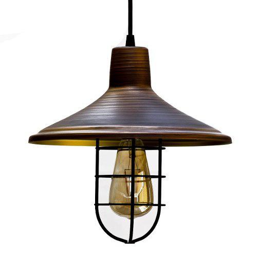 Lámpara Colgante Vintage Antique Con Rejilla