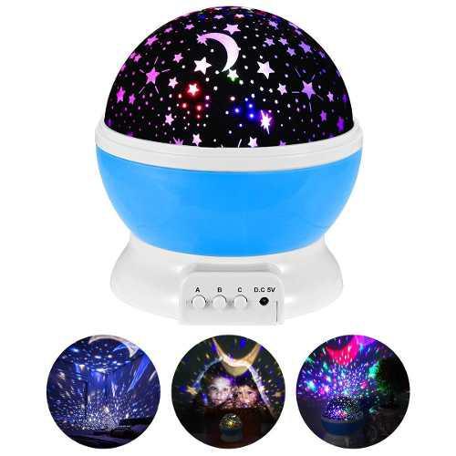 Lámpara Proyector De Estrellas Giratorias Niños Bebés