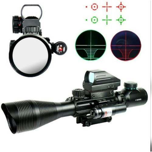 Mira Holografica +telescopica Con Laser Verde