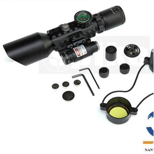 Mira Telescopicas Con Laser Rojo P/ Montar En Riel 20mm