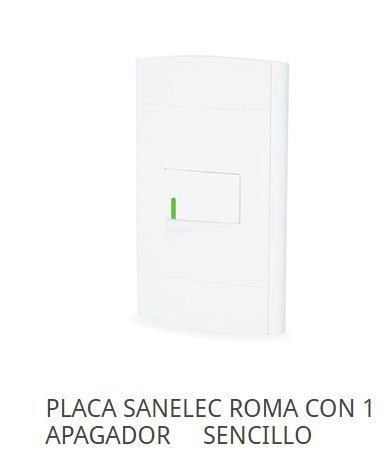 Placa Sanelec Roma Con 1 Apagador Sencillo