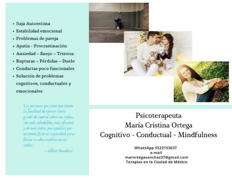 Psicoterapia - Anuncio publicado por Maria Cristina Ortega