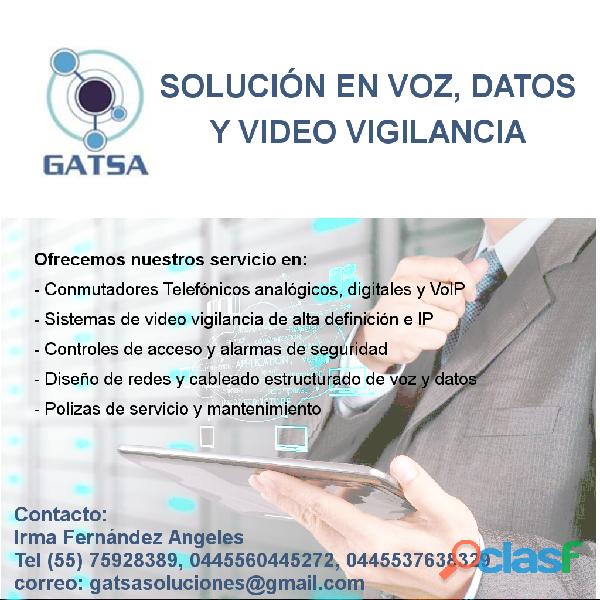 SERVICIO CONMUTADORES, CCTV Y REDES DE DATOS