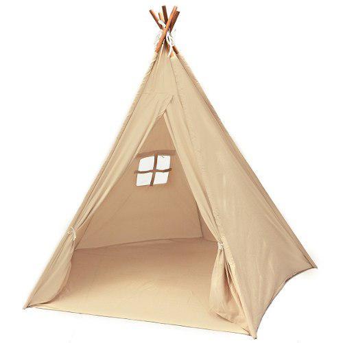 Tee Pee Tent Con 5 Postes De Madera Para Interior 6 Pies